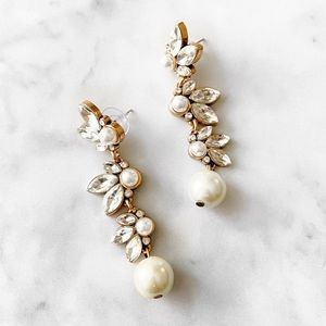Bridal Pearl Drop Statement Earrings